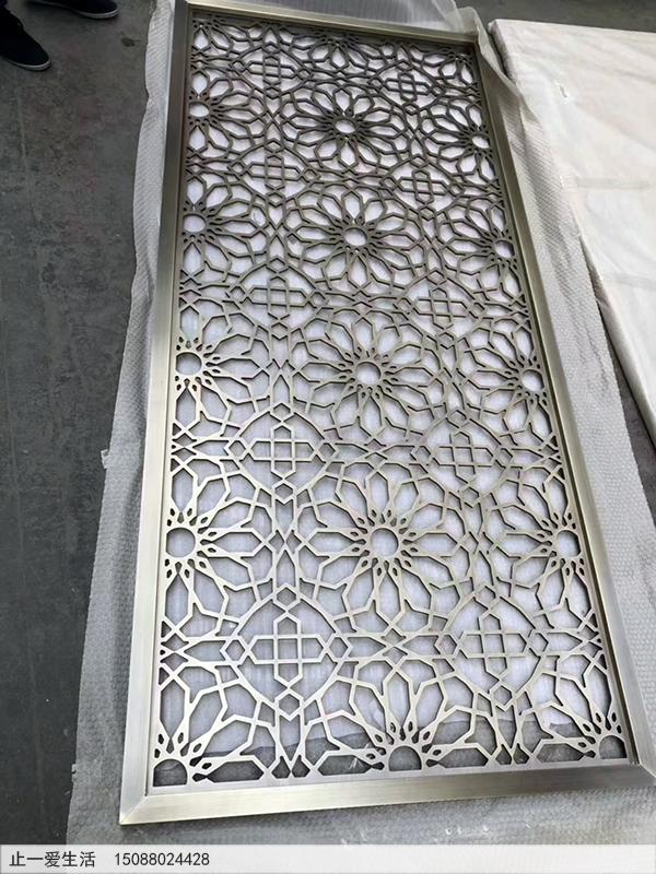 青古铜不锈钢板屏风效果图