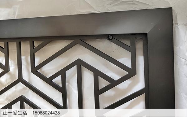 香港拉丝黑钛不锈钢板激光镂空屏风效果图高清图
