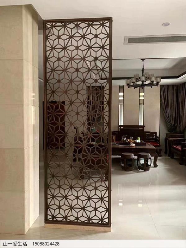 客厅古铜不锈钢装饰实拍效果图
