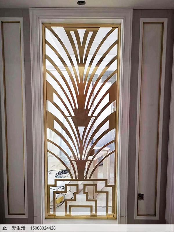 K金不锈钢屏风家居装饰效果图