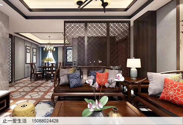 家居装饰青古铜不锈钢屏风沙发背景墙装修效果图