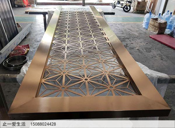 不锈钢激光镂空花格生产加工成品图1