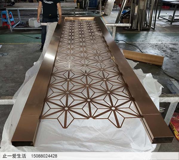 不锈钢激光镂空花格生产加工成品图2