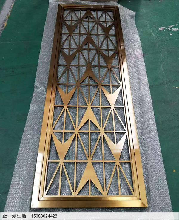 不锈钢板激光镂空花格样板图片2