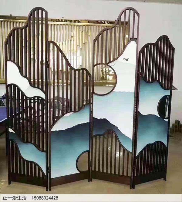 不锈钢简易折叠屏风图片