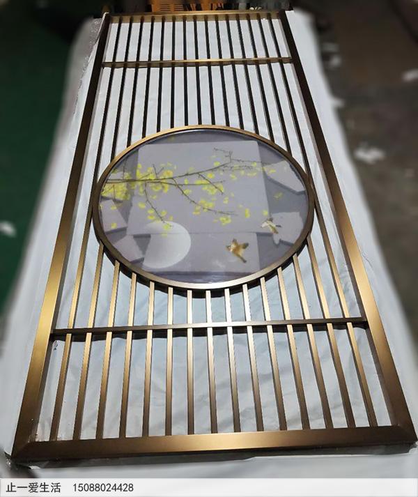 定制新中式不锈钢屏风厂家