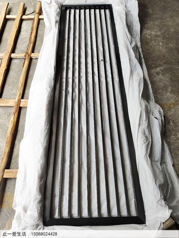 定制黑钛竖条不锈钢屏风厂家