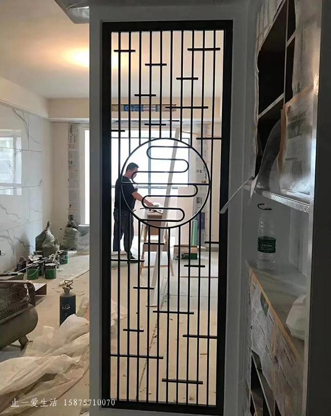 现代客厅不锈钢屏风隔断