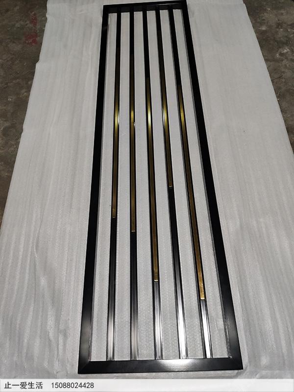 现代轻奢不锈钢屏风隔断厂家生产图