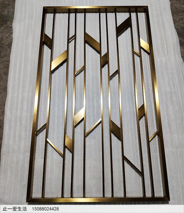 现代客厅北欧风格不锈钢屏风生产厂家实拍图2